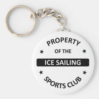 Ice Sailing Sports Club Keychain