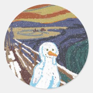 Ice Scream Round Sticker