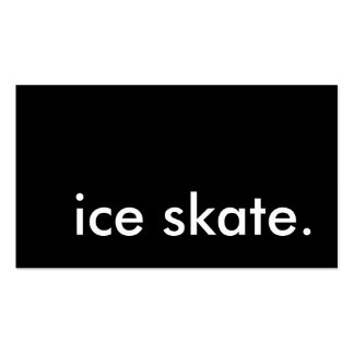 ice skate. business card template