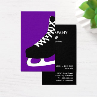 ice skate business card