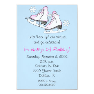 Ice Skate Invitations