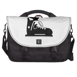 Ice Skate Laptop Messenger Bag