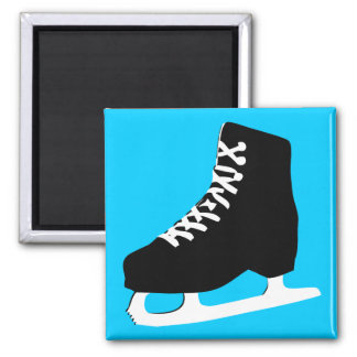ice skate square magnet