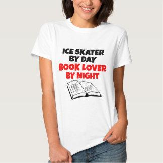 Ice Skater Book Lover Tee Shirt