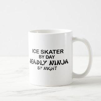 Ice Skater Deadly Ninja by Night Basic White Mug