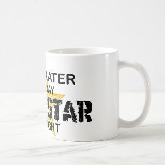 Ice Skater Rock Star by Night Basic White Mug