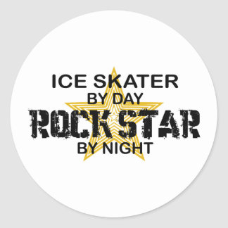 Ice Skater Rock Star by Night Stickers