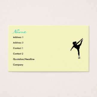 Ice Skaters' Card