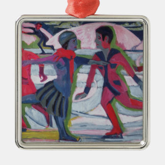 Ice Skaters Christmas Ornament