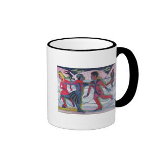 Ice Skaters Ringer Coffee Mug