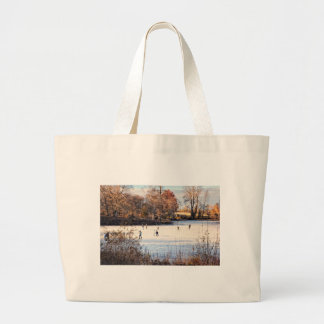 Ice Skaters Tote Bags