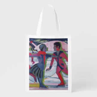 Ice Skaters Grocery Bag