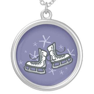 ice skates and snowflakes graphic custom jewelry