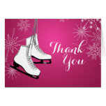 Ice Skates and Snowflakes Thank You