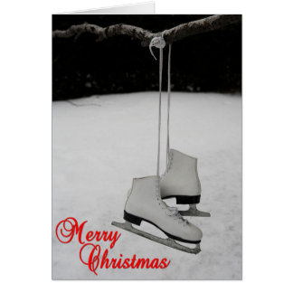 Ice Skates Christmas Card