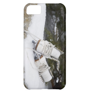 Ice skates, figure skates In snow iPhone 5C Cases