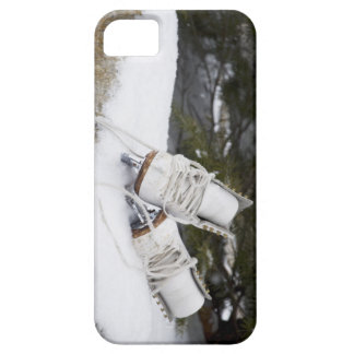 Ice skates, figure skates In snow iPhone 5 Case
