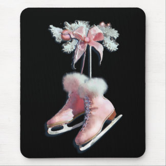 ICE SKATES in PINK by SHARON SHARPE Mouse Mat