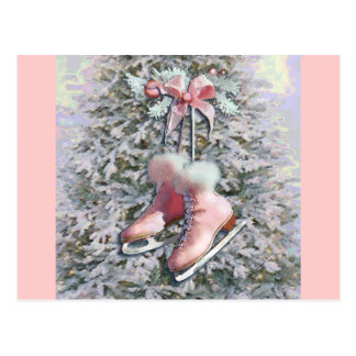 ICE SKATES in PINK by SHARON SHARPE Postcard
