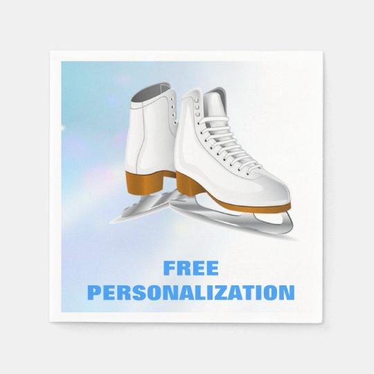 Ice Skates Paper Napkins