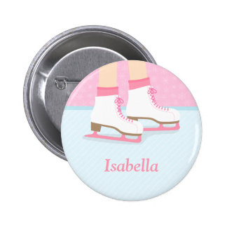 Ice Skates Skating Rink For Girls 6 Cm Round Badge