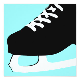 ice skating 13 cm x 13 cm square invitation card