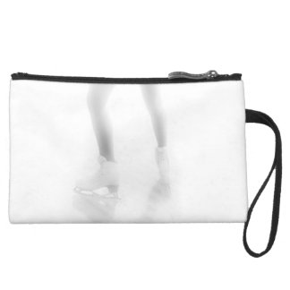 Ice skating wristlet clutches