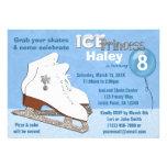 Ice Skating Birthday Invitation BLUE Ice Princess