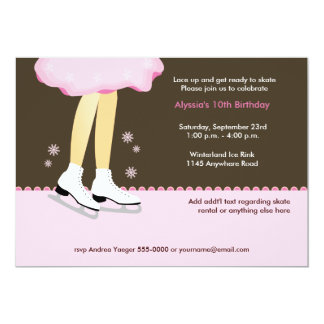 Ice Skating Birthday Invitation-Light 13 Cm X 18 Cm Invitation Card