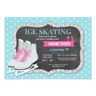Ice Skating Birthday Party Rink Skate Invite