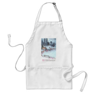 Ice Skating by Moonlight Vintage Christmas Standard Apron
