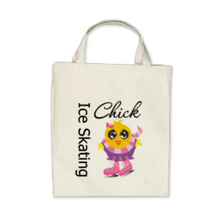Ice Skating Chick Canvas Bag
