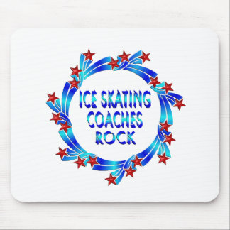 Ice Skating Coaches Rock Red Stars Mousepad