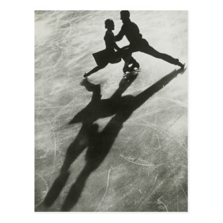Ice Skating Couple Postcard