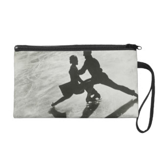 Ice Skating Couple Wristlet Purse