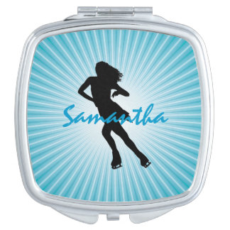 Ice Skating Design Compact Compact Mirror