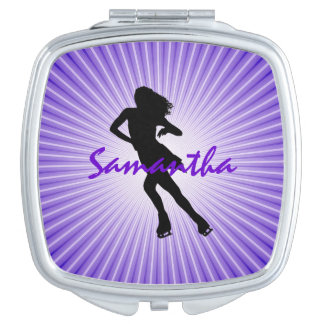 Ice Skating Design Compact Vanity Mirror