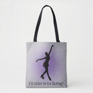 Ice Skating Design Tote Bag