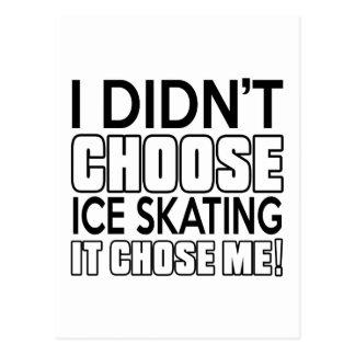 ICE SKATING DESIGNS POSTCARD