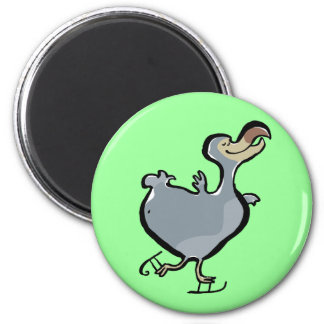 ice skating dodo 6 cm round magnet