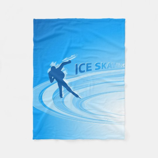 Ice Skating Fleece Blanket