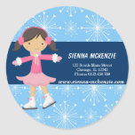 Ice Skating Girl (Blue) Stickers