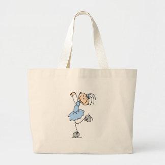 Ice Skating Girl In Blue Bag
