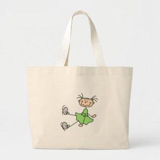 Ice Skating Girl In Green Bag