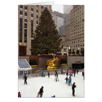 Ice Skating in New York City Holiday Card