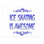 Ice Skating is Awesome Post Card