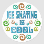 Ice Skating is Cool Round Stickers