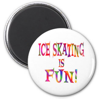 Ice Skating is Fun 6 Cm Round Magnet