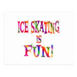 Ice Skating is Fun Post Cards