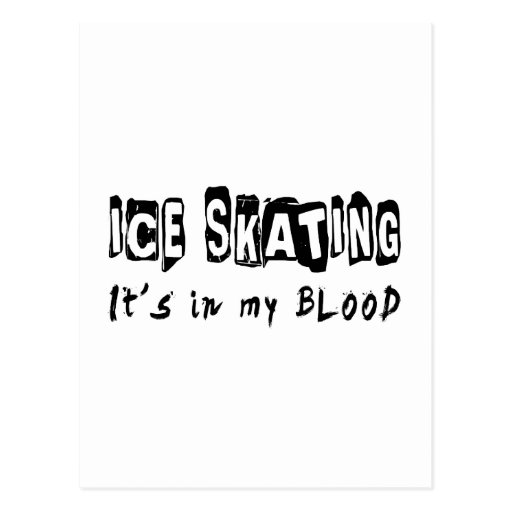 Ice Skating It's in my blood Postcard